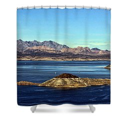 Sail Away Shower Curtain by Tammy Espino