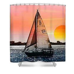 Shower Curtain featuring the photograph Sail Away With Me by Athala Carole Bruckner