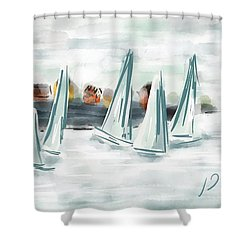 Sail Away With Me Shower Curtain by Patricia Olson