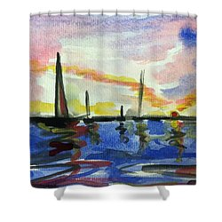 Sail Boat 2 Shower Curtain