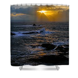 Sail Rock Sunrise Shower Curtain by Marty Saccone
