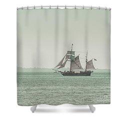 Sail Ship 2 Shower Curtain by Lucid Mood