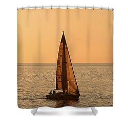 Sailboat In Hawaii Shower Curtain by Kim Hojnacki
