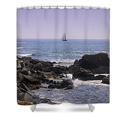 Sailboat - Maine Shower Curtain
