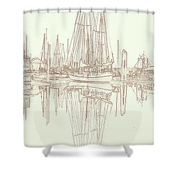 Shower Curtain featuring the photograph Sailboat On Liberty Bay by Greg Reed