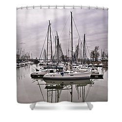 Sailboat Row Shower Curtain