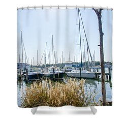 Sailboats On Back Creek Shower Curtain