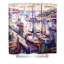 Sailboats Shower Curtain by Stan Esson