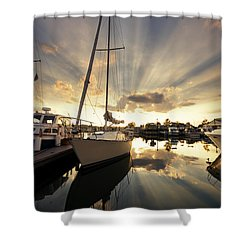 Sailed In Shower Curtain by Alexey Stiop
