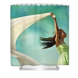 Sailing A Favorable Wind Shower Curtain by Laura Fasulo