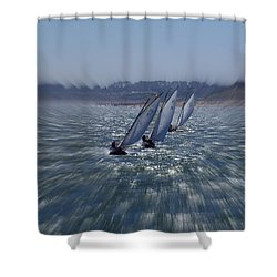 Sailing Boats Racing Shower Curtain