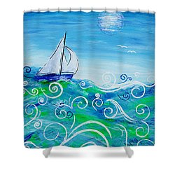 Sailing By Jan Marvin Shower Curtain