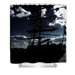 Sailing By Night Shower Curtain by Four Hands Art