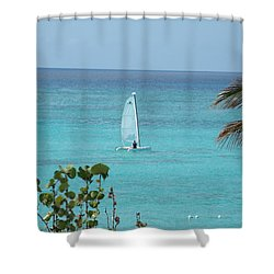 Shower Curtain featuring the photograph Sailing by David S Reynolds