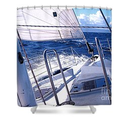Sailing Hawaii Shower Curtain by Joseph J Stevens