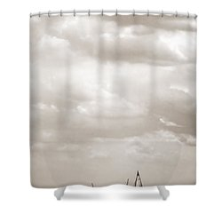 Sailing In New York Harbor - Nautical Shower Curtain by Gary Heller