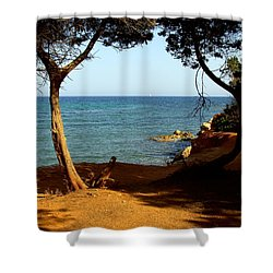 Sailing In Solitude Shower Curtain