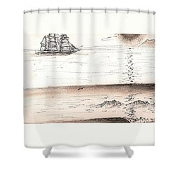 Sailing Into The Past Shower Curtain
