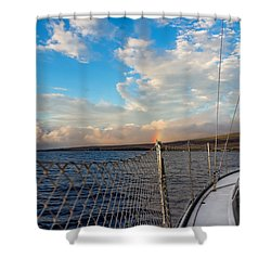 Sailing Lahaina Bay Shower Curtain