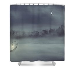 Sailing Odyssey Shower Curtain by Lourry Legarde