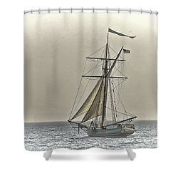 Sailing Off Shower Curtain by Jack R Perry