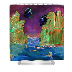 Sailing On Beta Antares 3 Shower Curtain