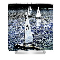 Sailing On Blue Shower Curtain by Steve Taylor
