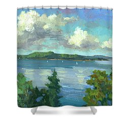 Sailing On Puget Sound Shower Curtain by Diane McClary