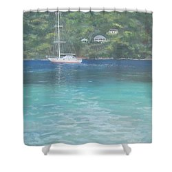 Sailing On The Caribbean Shower Curtain