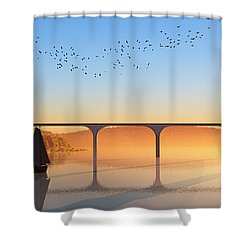 Sailing Out To Sea... Shower Curtain