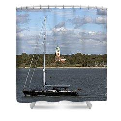 Sailing Past Netley Shower Curtain