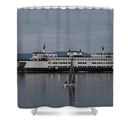 Sailing Regatta And Issaquah Ferry Shower Curtain by E Faithe Lester