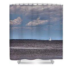 Shower Curtain featuring the photograph Sailing by Sennie Pierson