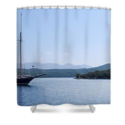 Sailing Ship In The Adriatic Islands Shower Curtain