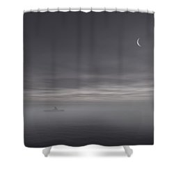 Sailing Solitude Shower Curtain by Lourry Legarde