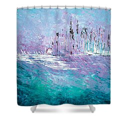 Sailing South - Sold Shower Curtain by George Riney