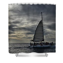 Sailing The Caribbean Shower Curtain