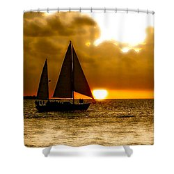 Sailing The Keys Shower Curtain