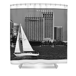 Shower Curtain featuring the digital art Sailing To Work by Kirt Tisdale