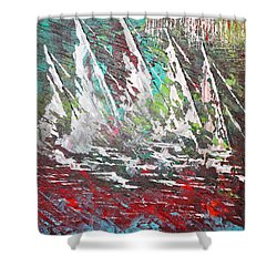 Sailing Together - Sold Shower Curtain by George Riney