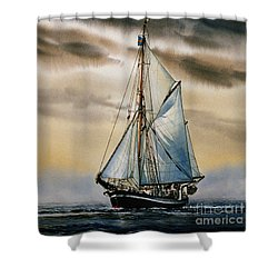 Sailing Vessel Seute Deern Shower Curtain by James Williamson