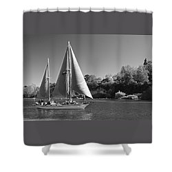 The Fearless On Lake Taupo Shower Curtain