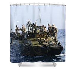 Sailors Conduct Patrol Operations Shower Curtain by Stocktrek Images