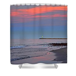 Sailors Guide Shower Curtain by Frozen in Time Fine Art Photography