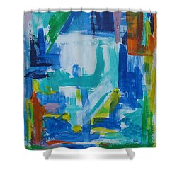 Sails In The Harbor Shower Curtain by Diane Pape