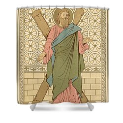 Saint Andrew Shower Curtain by English School