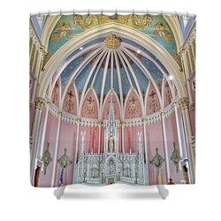 Saint Bridgets Altar Shower Curtain by Susan Candelario