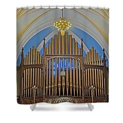 Saint Bridgets Pipe Organ Shower Curtain by Susan Candelario