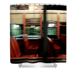 New Orleans Saint Charles Avenue Street Car In New Orleans Louisiana #6 Shower Curtain