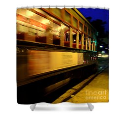 New Orleans Saint Charles Avenue Street Car In  Louisiana #7 Shower Curtain